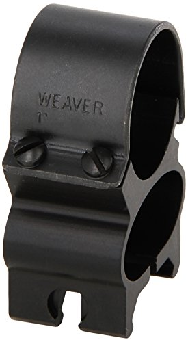 Weaver See-Thru 1-Inch Detachable Rings (Matte Black) ()