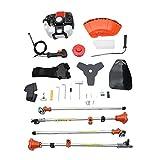 RoadRoma 2 in 1 52cc Cutter Mower Gasoline Brush Cutter Garden Lawn Mower Hedge Trimmer