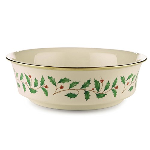 Brass Leaf Motif - Lenox Holiday Serving Bowl