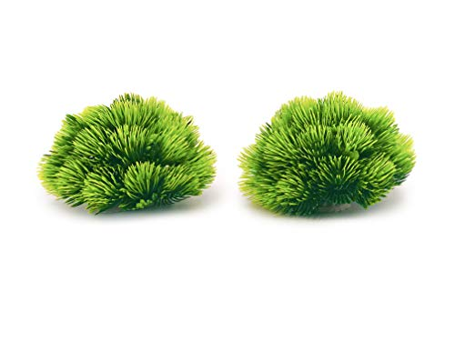 BEGONDIS 2Pcs Aquarium Decorations Fish Tank Artificial Green Water Plants Made of Soft Plastic,Safe for All Fish & Pets