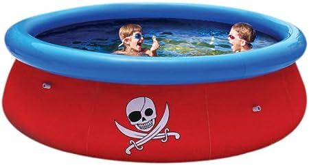 Bestway 57243B - Piscina Hinchable con Aventura Pirata en 3D (Incluye Gafas de natación en 3D y Tesoro Pirata, tamaño: 274 x 76 cm Aprox.)