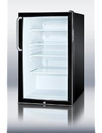 Summit SCR500BL7TB Refrigerator, Glass/Black