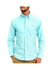 Polo Ralph Lauren Men Standard Fit Oxford Sport Shirt, Hamm Blue, Medium
