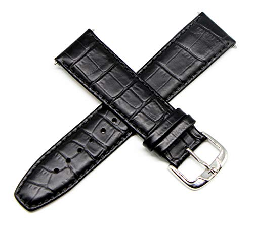 Men Jacques Lemans Watches - Jacques Lemans 22MM Alligator Grain Genuine Leather Watch Strap 8