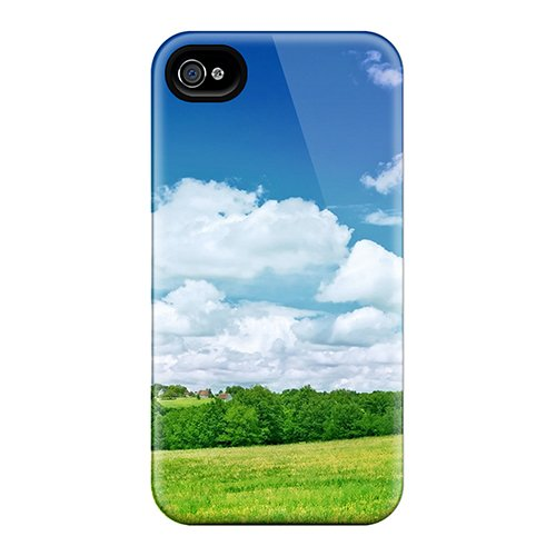 Price comparison product image NhTiWtl4563pmocb MindyHall Summer Scenery Durable Iphone 4/4s Tpu Flexible Soft Case