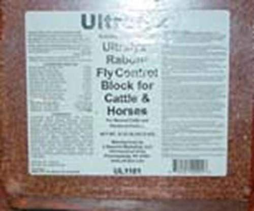 Ultralyx 10401 064576 Rabon Fly Control Block Cattle & Horses, 33.3 lb by Ultralyx