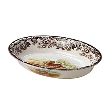 Spode Woodland  Rabbit Oval Rim Dish