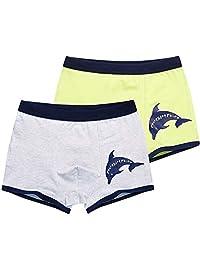 Boys Boxer Briefs Shorts Cotton Underwear 2 Pack Kids Basic Briefs 4-12 Years