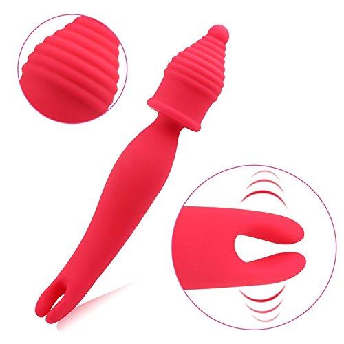 MAILIN Dual Cordless Vibrator Wand Massager Massager Soft Silicone of 7 Speed USB Rechargeable Waterproof Massage Sticks
