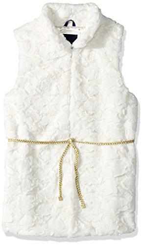 Tommy Hilfiger Big Girls' Faux Fur Vest, Whisper White, X-Large