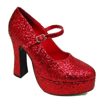 Womens Red Glitter Mary Jane Dorothy Ladies Platform Shoes  Amazon.co.uk   Shoes   Bags 088aa141e