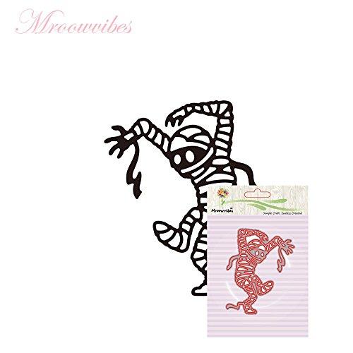Sunbona Happy Halloween Metal Cutting Dies Stencils Scrapbook Card Making Paper Embossing Creative DIY Craft Gift (G) -