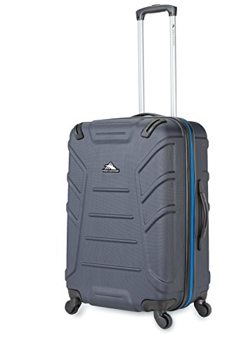 High Sierra Rocshell Hardside Spinner Luggage, Midnight/Vivid Blue, 24