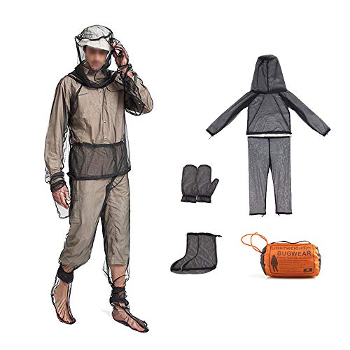AYAMAYA Bug Jacket Mesh Mosquito Suit with Hood, Mesh Hooded Suits Unisex Mosquito Net Repellent Clothing Ultra-fine Mesh Insect Protective with Free Carry Pouch for Hunting Fishing Bee – (S-M)