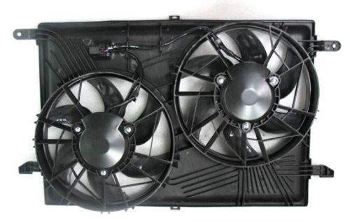 (Dual Radiator and Condenser Fan Assembly - Cooling Direct For/Fit GM3115219 08-17 Buick Enclave 09-17 Chevrolet Traverse 07-17 GMC Acadia 07-10 Outlook)
