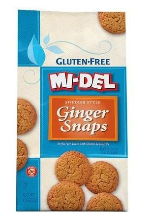 Mi-Del Gluten Free Ginger Snaps - 8 oz (Pack of 3) by Mi-Del