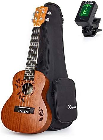 Kmise Uke ukelele de concierto Guitarra Acústica hawaiano 18 ...