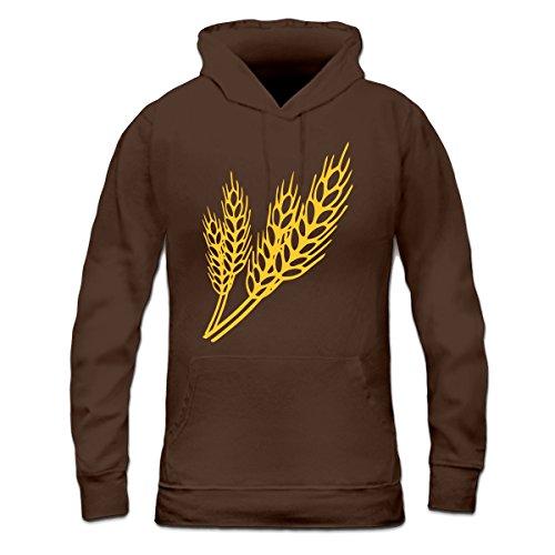 Sudadera con capucha de mujer cereales granos by Shirtcity Marrón