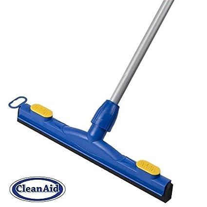 CleanAid FLEX-45 Regleta de Goma para Suelo , Limpieza de Agua Higiénica , Palo