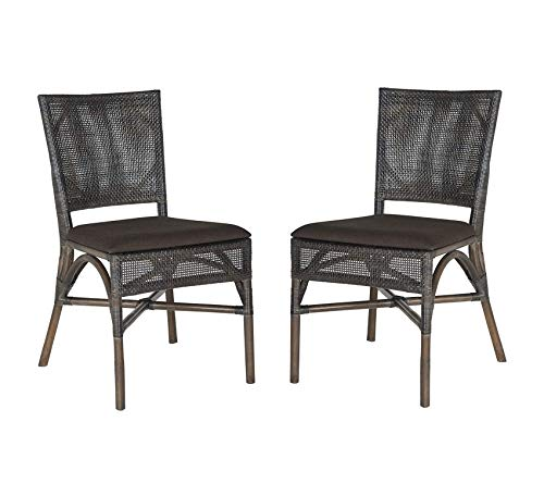 Wood & Style Furniture Capri Dark Side Chair, Dark Brown, Set of 2 Home Office Commerial Heavy Duty Strong Décor