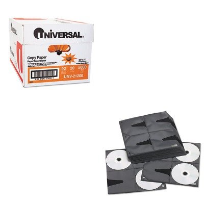 KITIDEVZ01401UNV21200 - Value Kit - Vaultz Two-Sided CD Refill Pages for Three-Ring Binder (IDEVZ01401) and Universal Copy Paper (UNV21200)