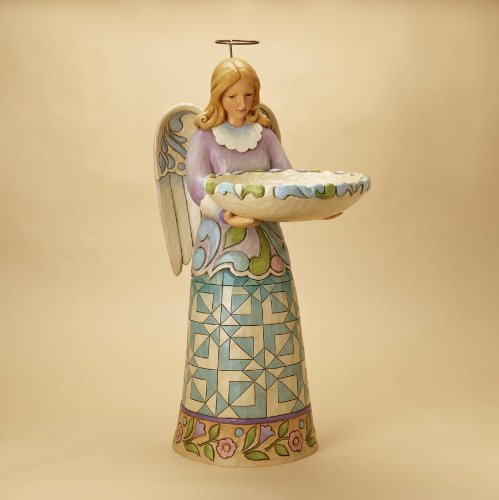 Jim Shore Garden Angel Birdbath
