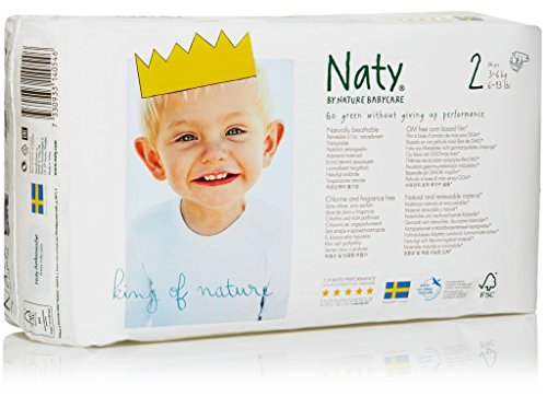 Nature Babycare Eco-Diapers, Size 2, 136 count