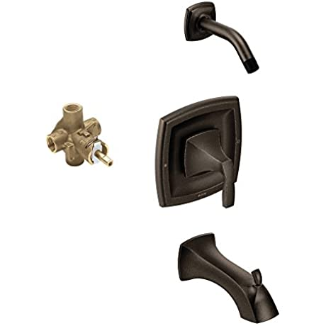 Moen KTSVO P T2693NHORB Voss Showerhead And 7 15 16 Inch Spout Oil Rubbed Bronze