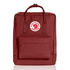 Kanken is made out of durable, lightweight vinyl on fit The roomy main compartment with a large opening makes it easy to put in and take out items. Features two side pockets and a zippered pocket in the front. With a handle at the top, narrow...