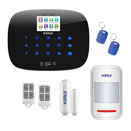 KERUI W193 Wireless Home Security Alarm System-3G WIFI PSTN RFID Card GSM Touch Keypad Color Display DIY Kit Auto Dial Free APP Remote Control KERUI