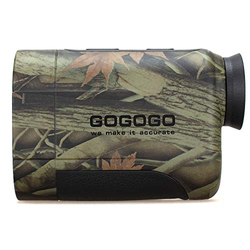 Gogogo 6X Hunting Laser Rangefinder Range Finder Distance Measuring Outdoor Wild 650/1200Y with Slop High-Precision Continuous Scan (650Yard)