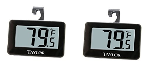 Taylor Precision Products Digital Refrigerator/Freezer Thermometer (2) by Taylor Precision Products
