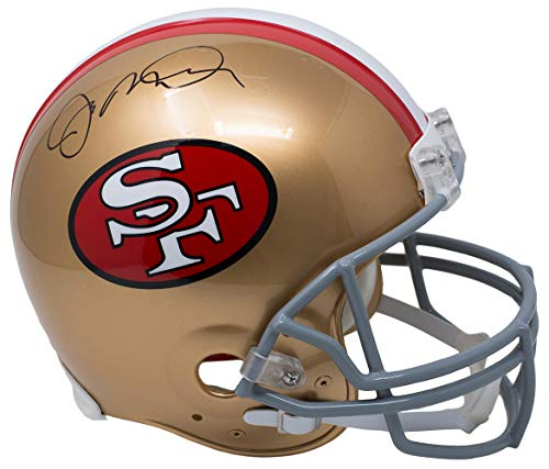 (Joe Montana San Fransisco 49ers Signed Autograph Proline Authentic On Field Full Size Helmet JSA Witnessed)