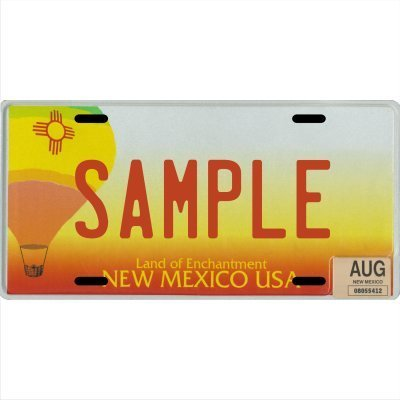 Custom Personalized Metal License Plate Your Name Your State - Choose from All 50 States (New Mexico Balloon, 6