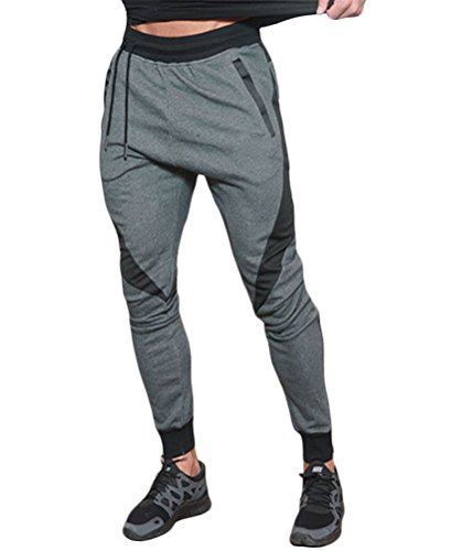 Tuesdays2 Men's Workout Gym Running Jogger Active Drawsting Harem Pants (M, Color (Mens Sports Wears)
