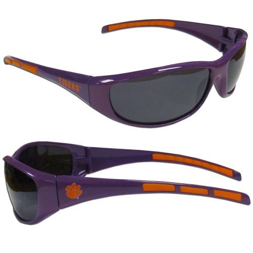 - NCAA Collegiate Team Logo Sports Wrap Sunglasses - Choose Team! (Clemson Tigers)