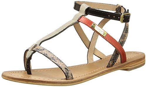 LES TROPEZIENNES par M Womens BELARBI Womens M Baie Flat Leather Sandals Red Size 36 B019Z3GFUG Shoes aa63fa