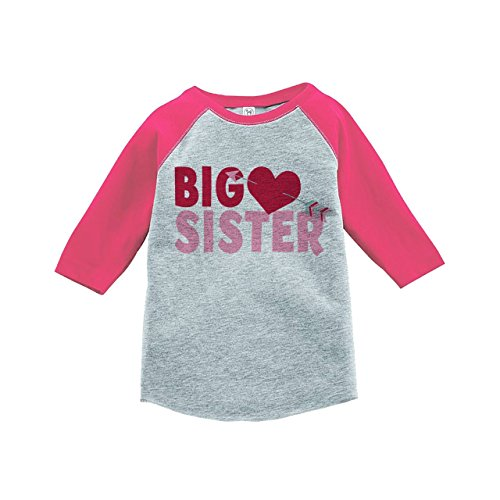 Custom-Party-Shop-Girls-Big-Sister-Happy-Valentines-Day-Pink-Raglan
