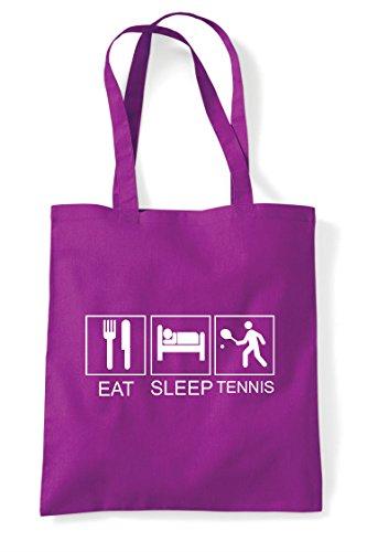 Tote Tennis Tiles Hobby Magenta Bag Sleep Eat Shopper Activity Funny qY7BgwwW1