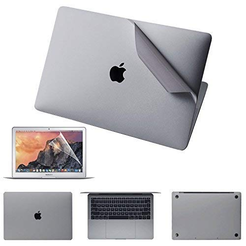 Premium 5-in-1 MacBook Full Body 3M Protective Skin Decals Stickers for MacBook Pro 15 with Touch Bar(Model Number: A1707/A1990, 2016/2017/2018) - Space Gray