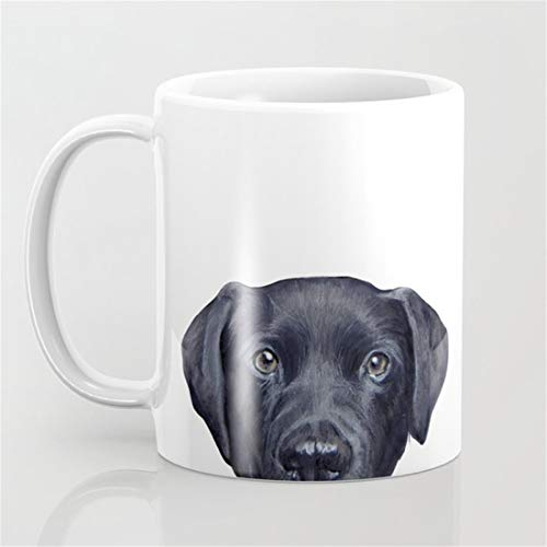 Labrador with white background Dog illustration original painting print Coffee ()