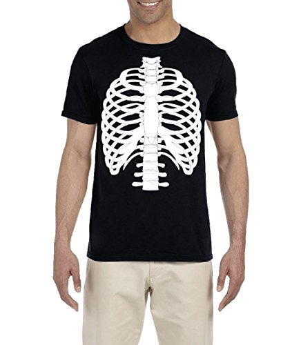 BROOKLYN VERTICAL Skeleton Funny Halloween Costume T Shirt Unisex Full Print (2XL) -