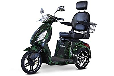 E-Wheels EW-36 3-Wheel 500W High Power Electric Mobility Scooter, Green Camo