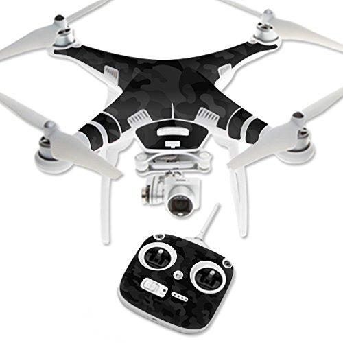Skin Compatible con Dron Dji Phantom 3 Standard Camo negro