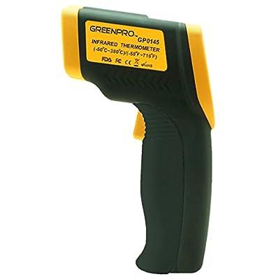 Greenpro Temperature Gun Non-contact Infrared Thermometer, Yellow/black