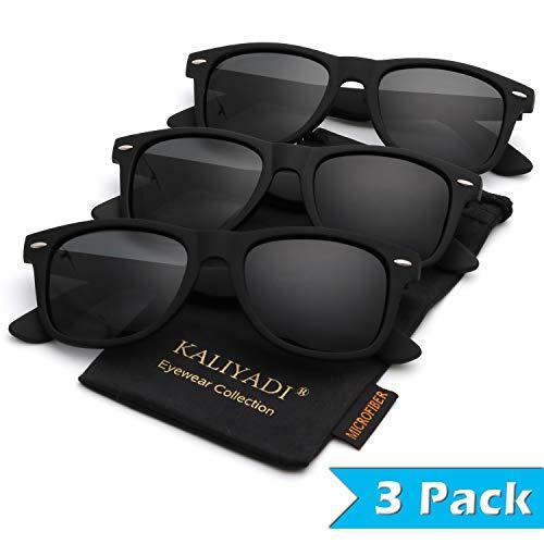 - Wayfarer Polarized Sunglasses for Men and Women | Matte Finish Sun glasses | Color Mirror Lens | 100% UV Blocking