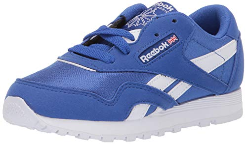 Reebok Boys' Classic Nylon Sneaker, Crushed Cobalt/White, 2 M US - Shoes Toddler Reebok