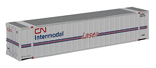 Walthers, Inc. Assembled Canadian National Ribbed Side Container, 48', White/Blue/Red