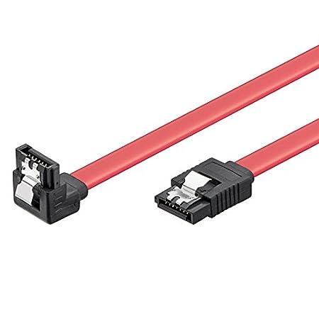 Rosso Velocit/à 6Gbits con Clips in metallo SATA L-Type 0.5 m Ewent Cavo SATA III
