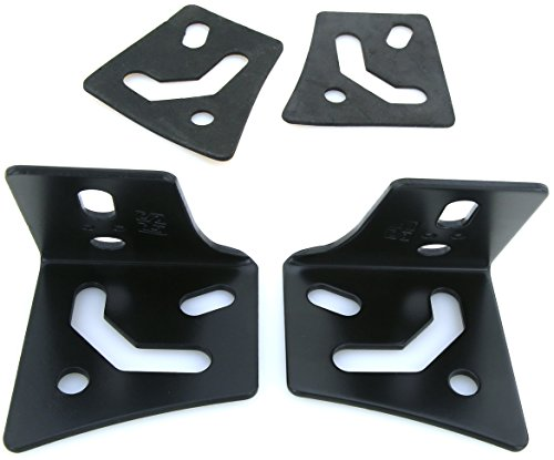 GS Power's Jeep YJ, TJ and JK A-Pillar Windshield Hinge Mount Brackets (2 pcs) for Mounting Auxiliary Off-Road LED, HID, or Halogen Fog and Work Lights to 1987-2016 Jeep Wrangler (Fog Light Clamp compare prices)